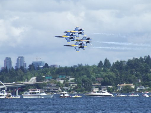 Blue Angels over Lake Washington